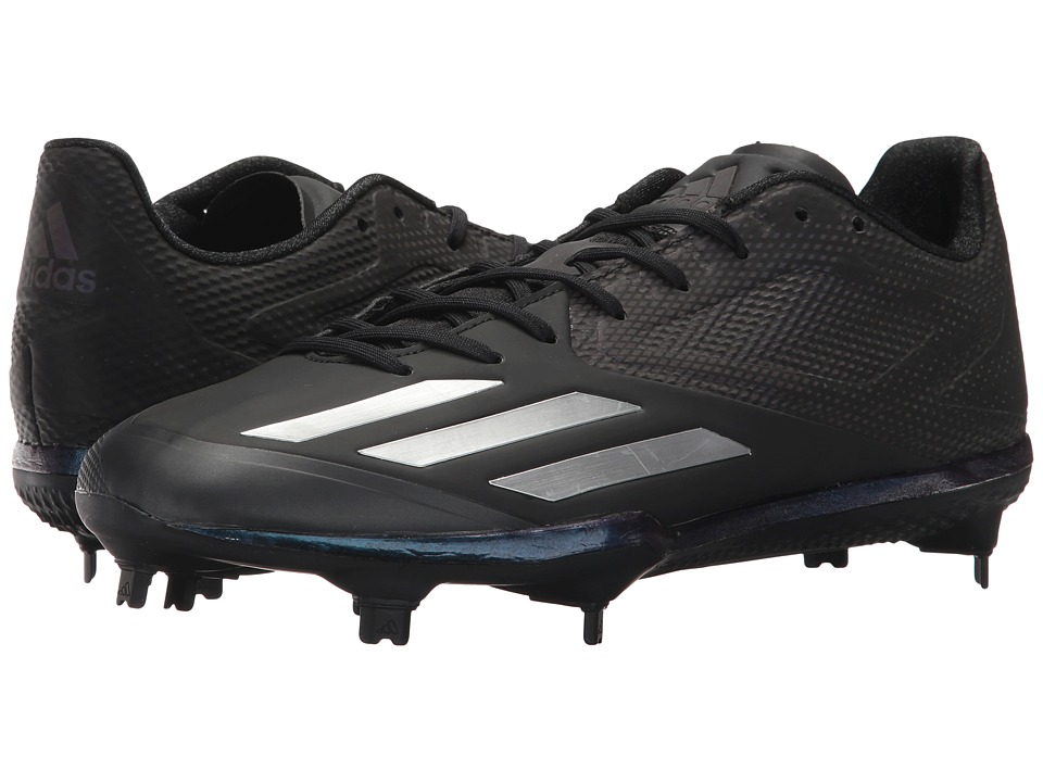 adidas - Adizero Afterburner 3 Xeno (Black/Silver Metallic/Silver Metallic) Men's Shoes