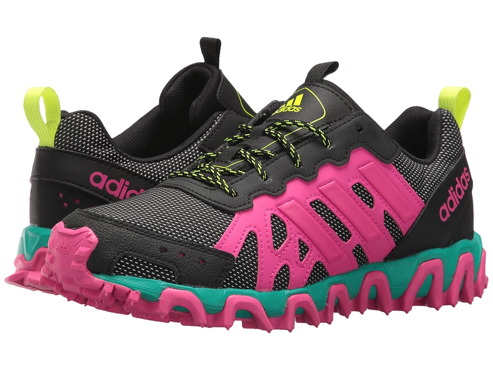 adidas Kids - Incision Trail XJ (Little Kid/Big Kid) (Black/Shock Pink/Solar Yellow) Kids Shoes
