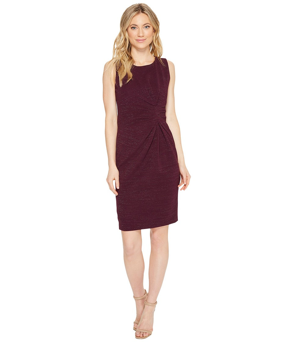 Tahari by ASL - Gathered Sheath Dress (Wine) Women's Dress