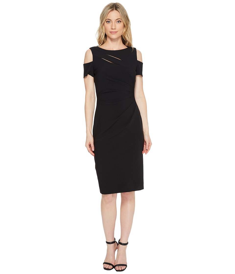 Tahari by ASL Cold Shoulder Sheath Dress (Black) Women