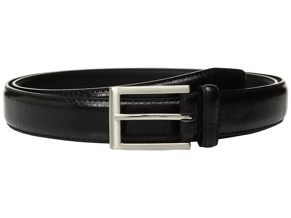 Florsheim - Crackle Grain Belt (Black) Men's Belts