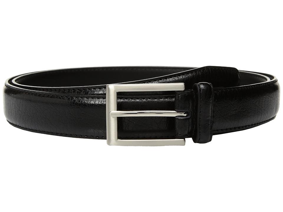 Florsheim - Crackle Grain Belt (Black) Men's Belts