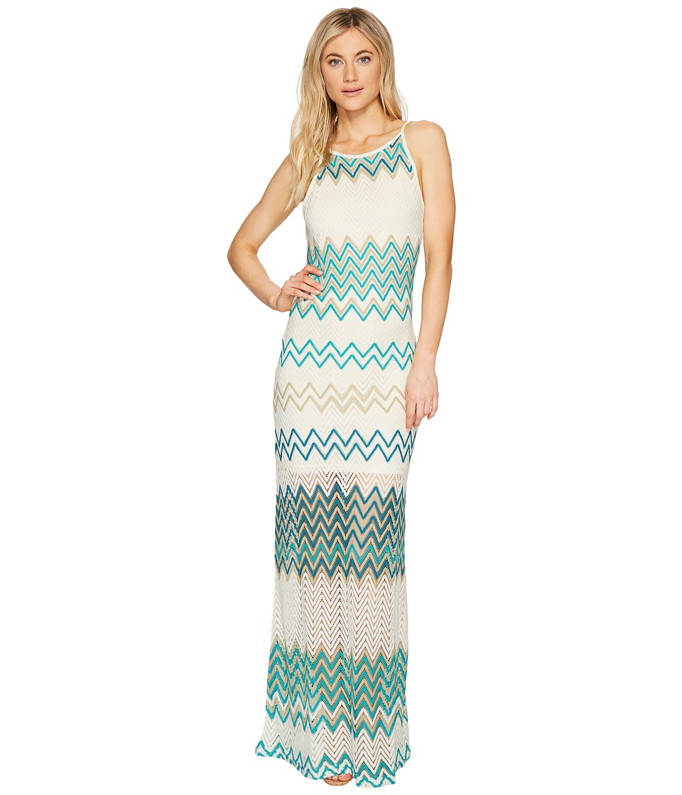 ROMEO & JULIET COUTURE - Multicolor Pattern Maxi Dress (Teal Multi) Women's Dress