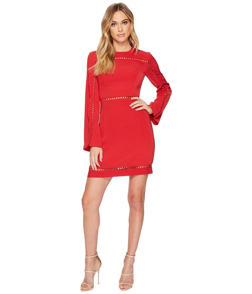 KEEPSAKE THE LABEL Indulge Long Sleeve Mini Dress (Red) Women