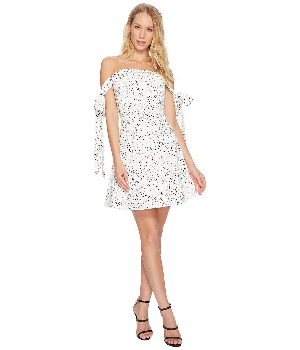 KEEPSAKE THE LABEL Embrace Me Mini Dress (White/Black Spot) Women