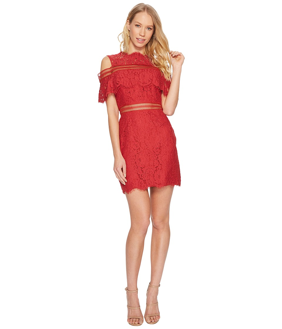 KEEPSAKE THE LABEL Butterfly Mini Lace Dress (Red) Women
