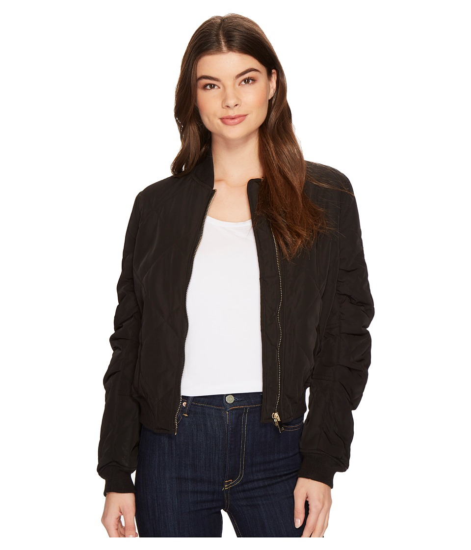 ROMEO & JULIET COUTURE - Padded Bomber Jacket (Black) Women's Coat
