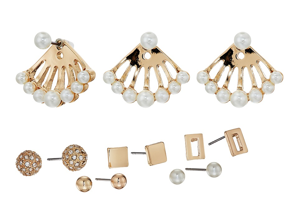 GUESS - Mixed Stud Set (Gold/Crystal/Pearl) Earring