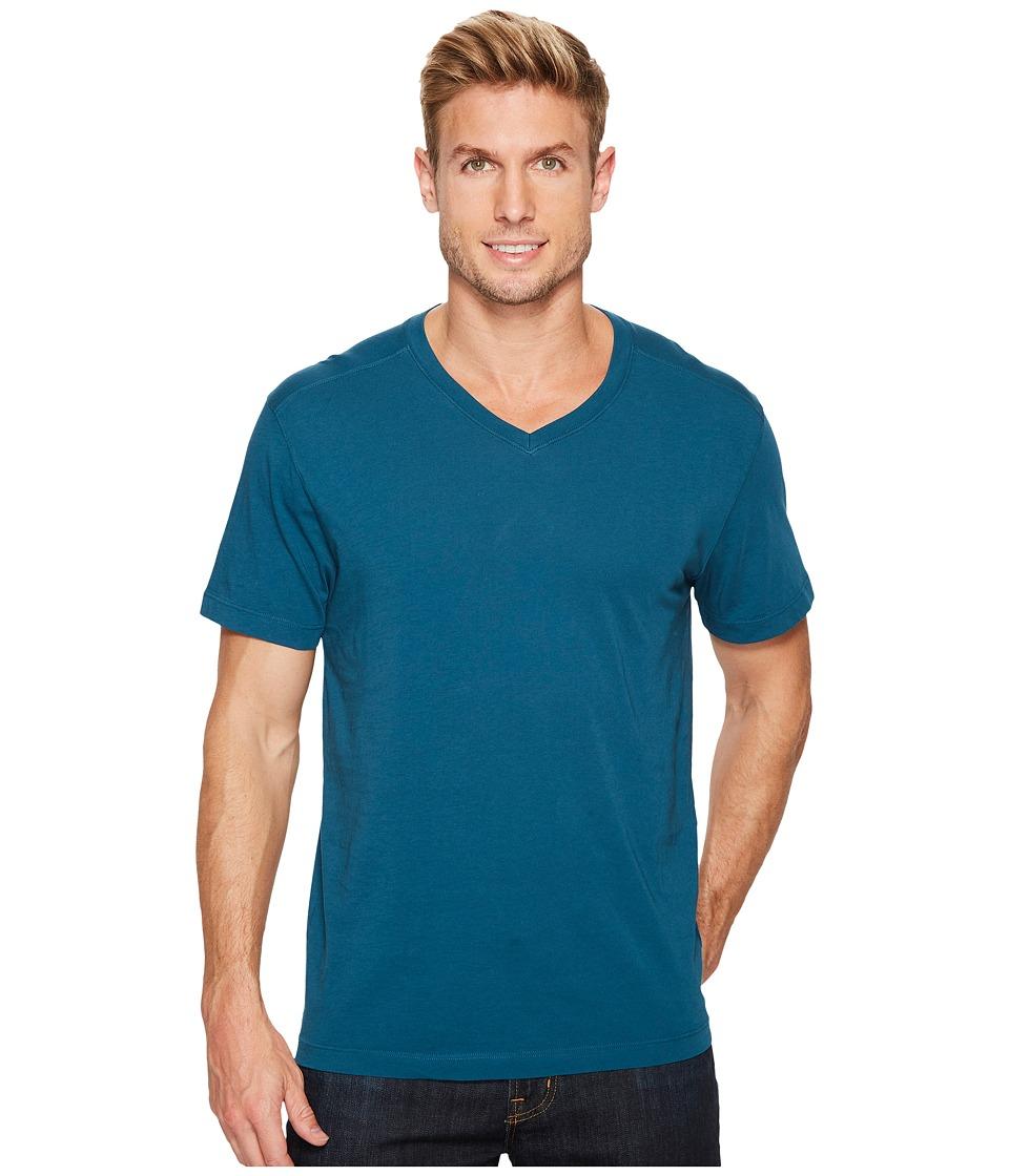 Agave Denim Agave Supima Vee Neck Short Sleeve Tee (Legion Blue) Men's T Shirt