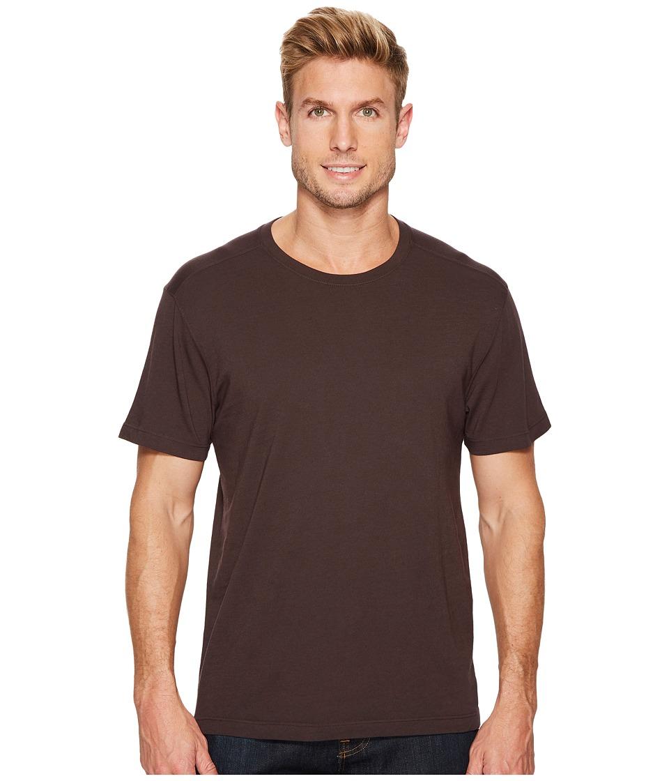 Agave Denim Agave Supima Crew Neck Short Sleeve Tee (Shale) Men's T Shirt