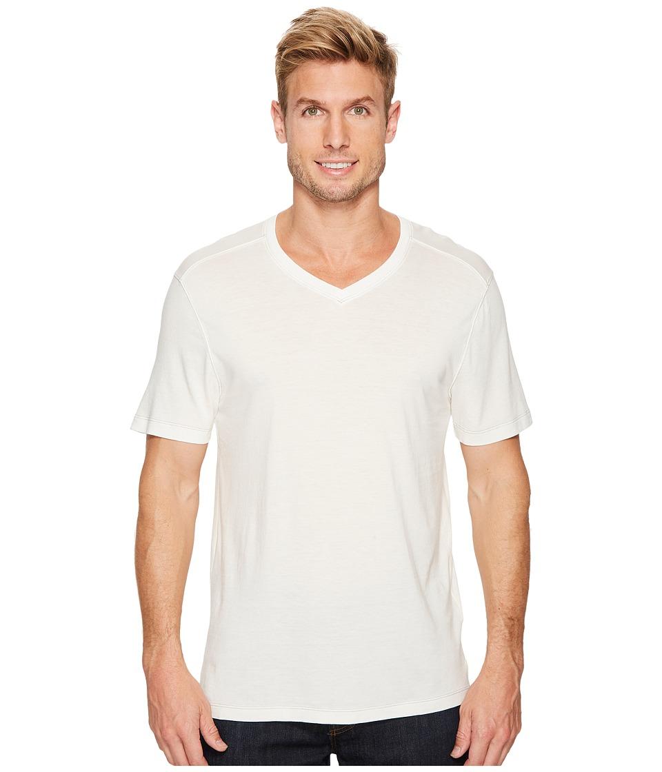 Agave Denim Cory Short Sleeve V-Neck Tee (Bright White) Men's T Shirt