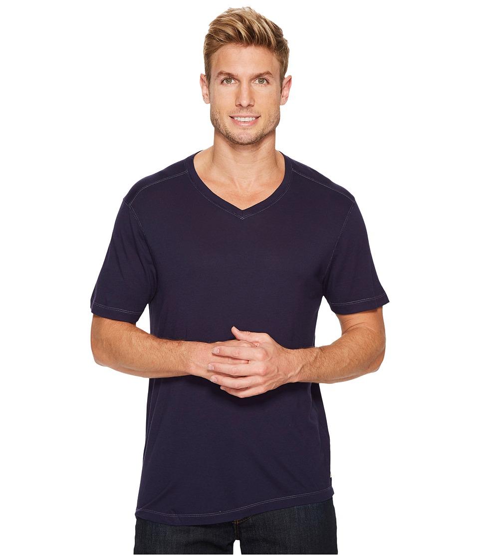 Agave Denim Cory Short Sleeve V-Neck Tee (Evening Blue) Men's T Shirt