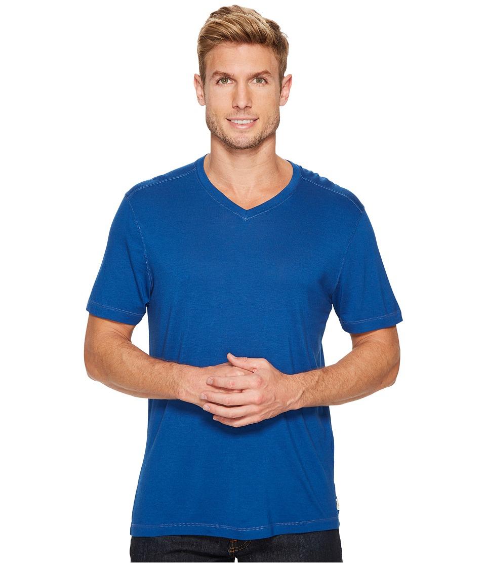 Agave Denim Cory Short Sleeve V-Neck Tee (Blue) Men's T Shirt
