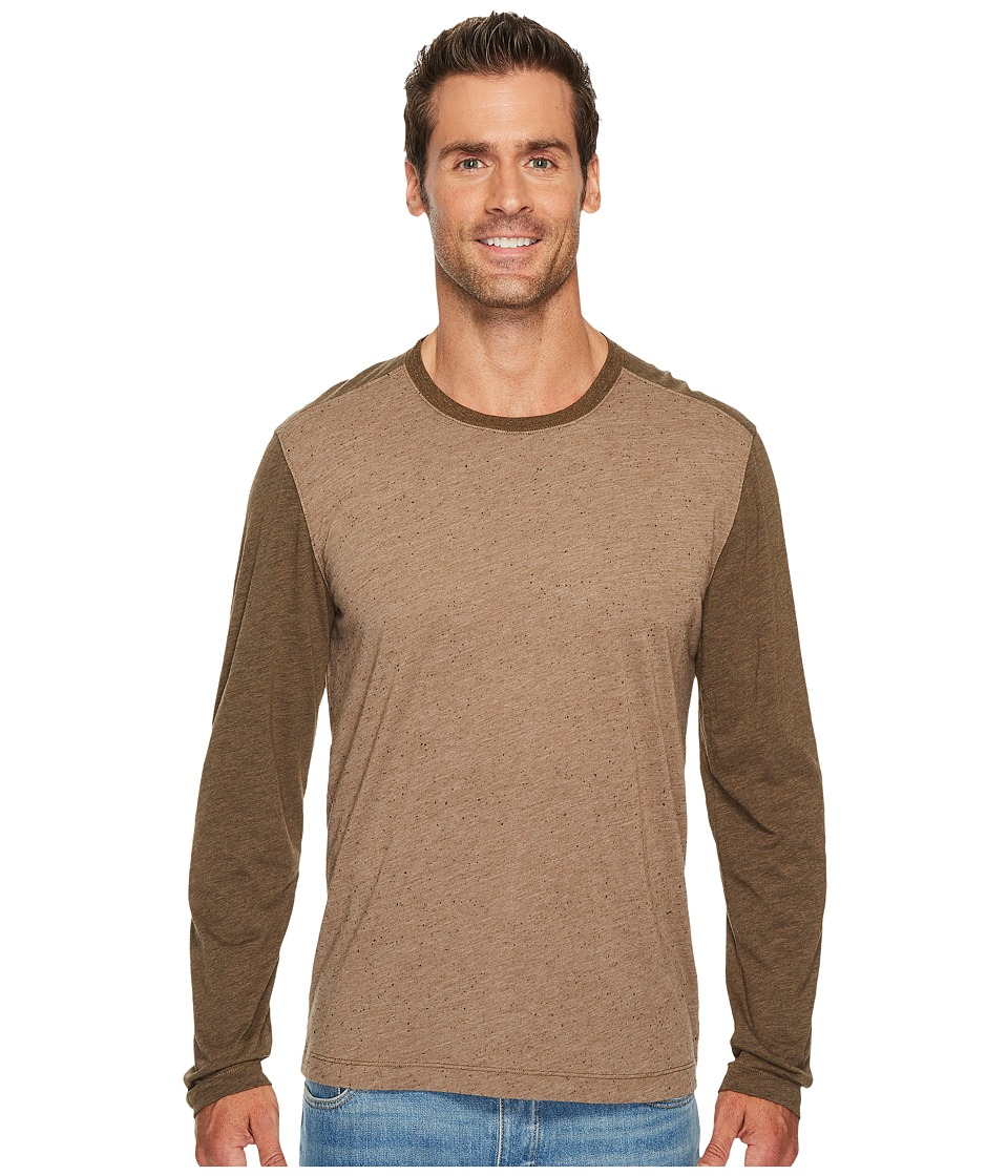 Agave Denim Shoaling Long Sleeve Color Block Neps T-Shirt (Kangaroo) Men's Long Sleeve Pullover