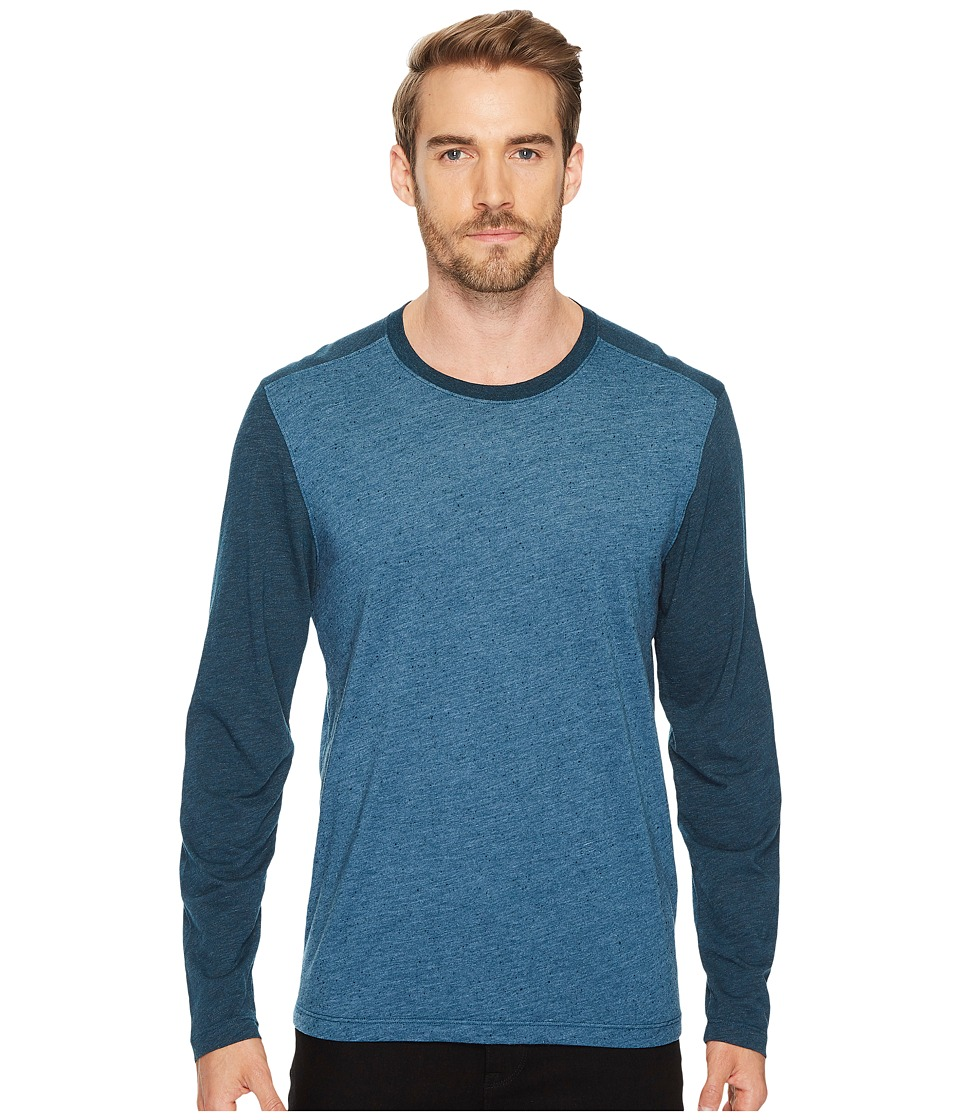 Agave Denim Shoaling Long Sleeve Color Block Neps T-Shirt (Legion Blue) Men's Long Sleeve Pullover