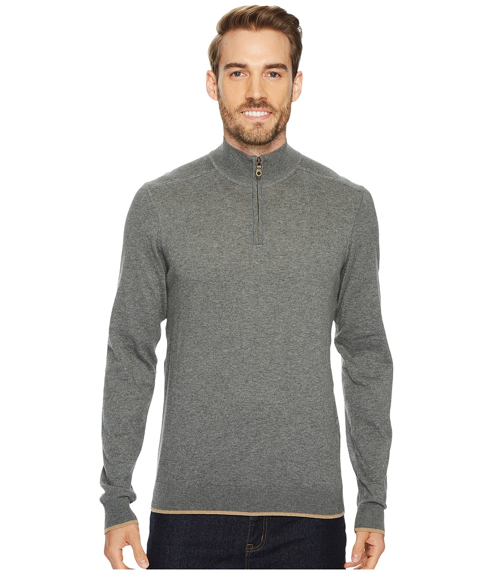 Agave Denim Latitude Long Sleeve 1/4 Zip 14GG Sweater (Gunmetal) Men's Long Sleeve Pullover
