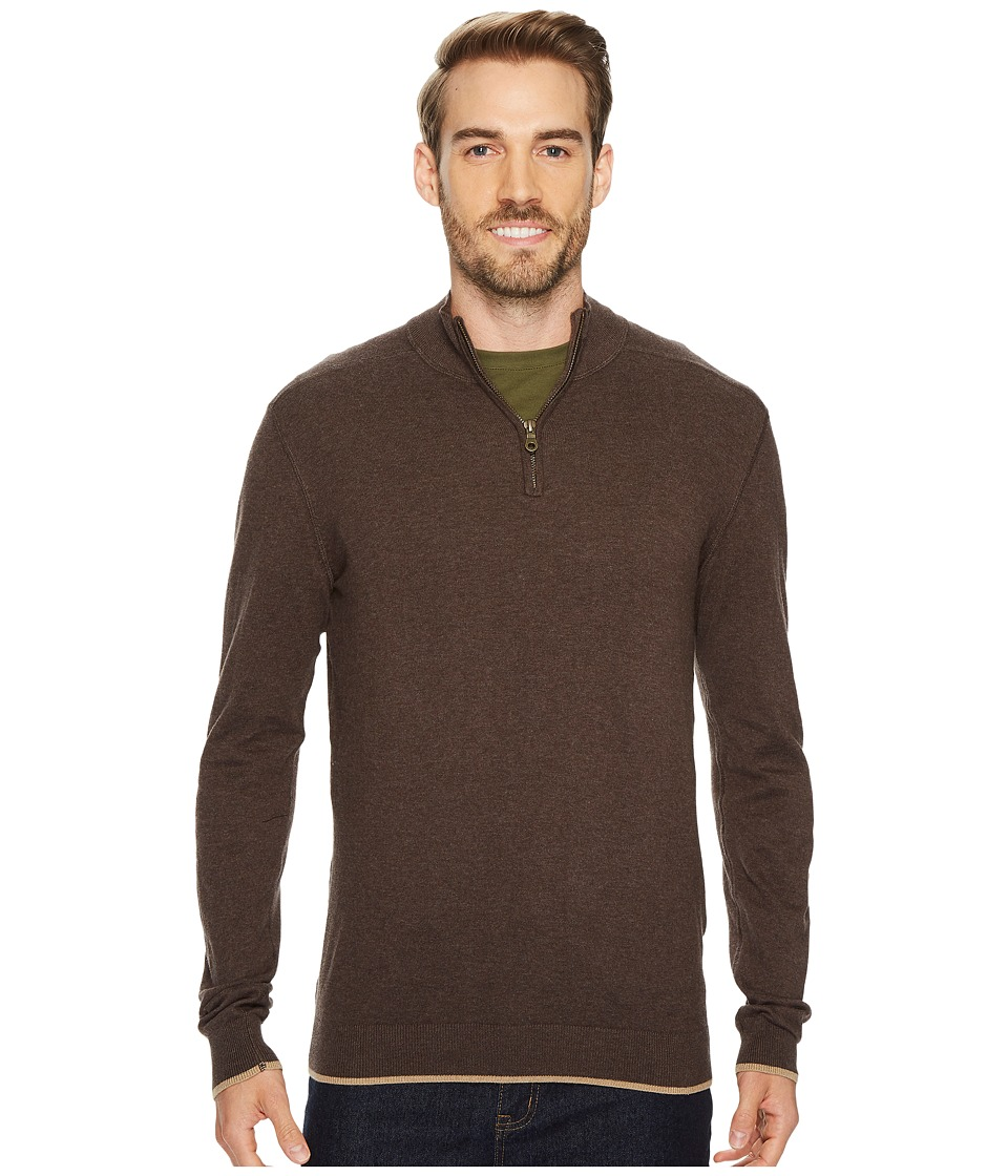 Agave Denim Latitude Long Sleeve 1/4 Zip 14GG Sweater (Shale) Men's Long Sleeve Pullover