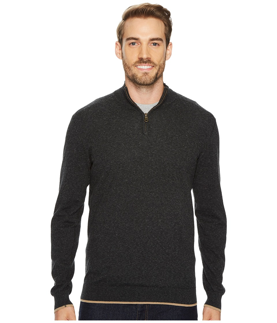 Agave Denim Latitude Long Sleeve 1/4 Zip 14GG Sweater (Stretch Limo) Men's Long Sleeve Pullover