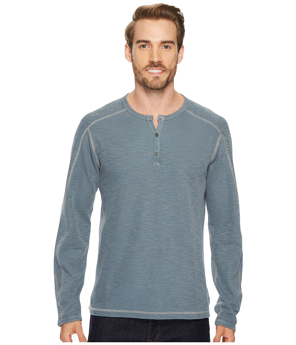 Agave Denim Riptide Long Sleeve Henley Slub Thermal (Blue Nights) Men's Long Sleeve Pullover