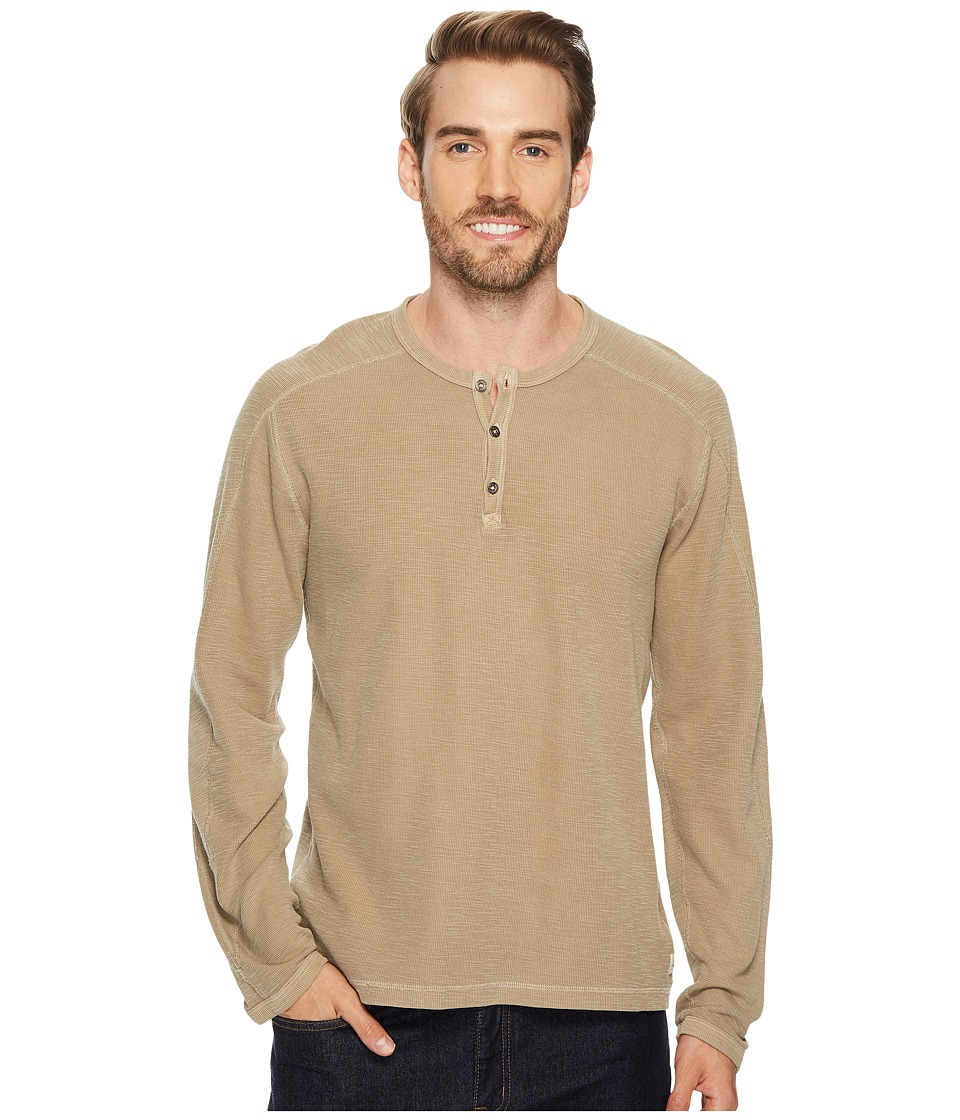 Agave Denim Riptide Long Sleeve Henley Slub Thermal (Kangaroo) Men's Long Sleeve Pullover