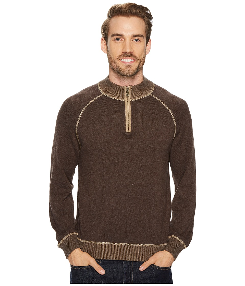 Agave Denim Victory at Sea Long Sleeve 1/4 Zip 12GG Sweater (Shale) Men's Long Sleeve Pullover