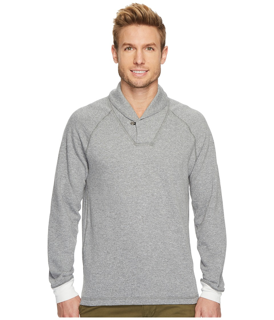 Agave Denim Swell Long Sleeve Shawl Mock Twist Terry (Heather) Men's Long Sleeve Pullover