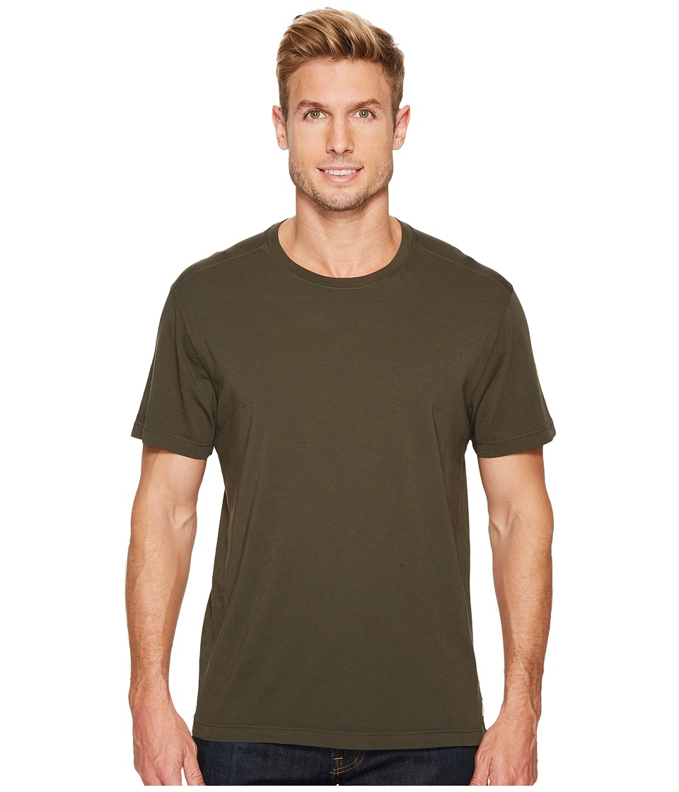 Image of Agave Denim - Agave Supima Crew Neck Short Sleeve Tee (Forest Night) Men's T Shirt