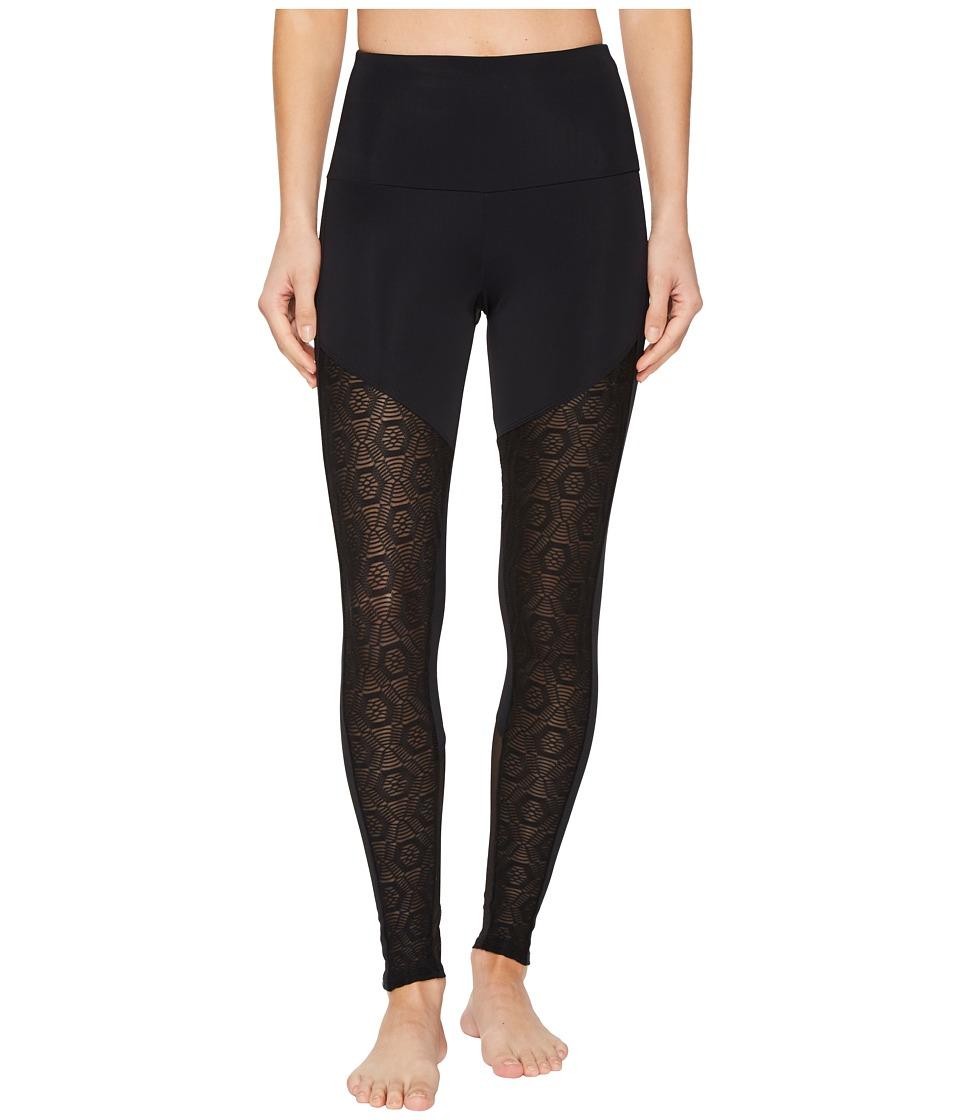 Onzie Fierce Leggings (Black Diamond Mesh) Women's Casual Pants