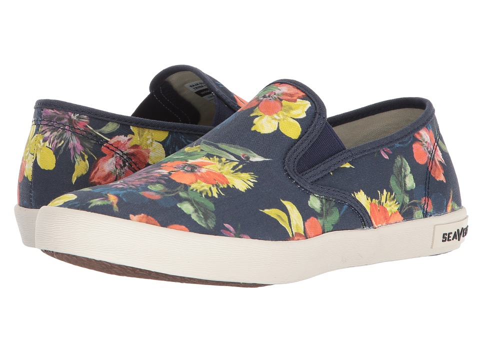 SeaVees Baja Slip-On Trina Turk (Navy Chrysanthemum) Women