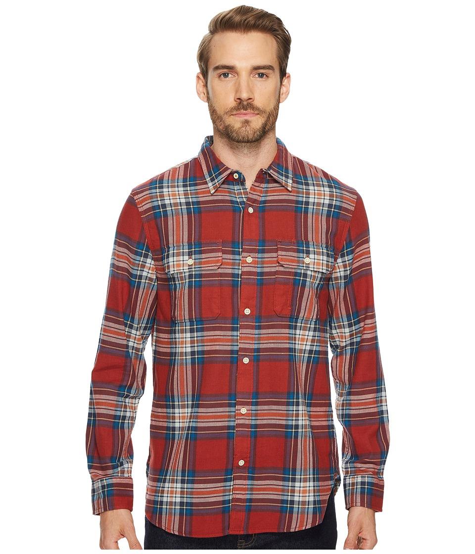 Lucky Brand Miter Workwear Shirt (Red Multi) Men
