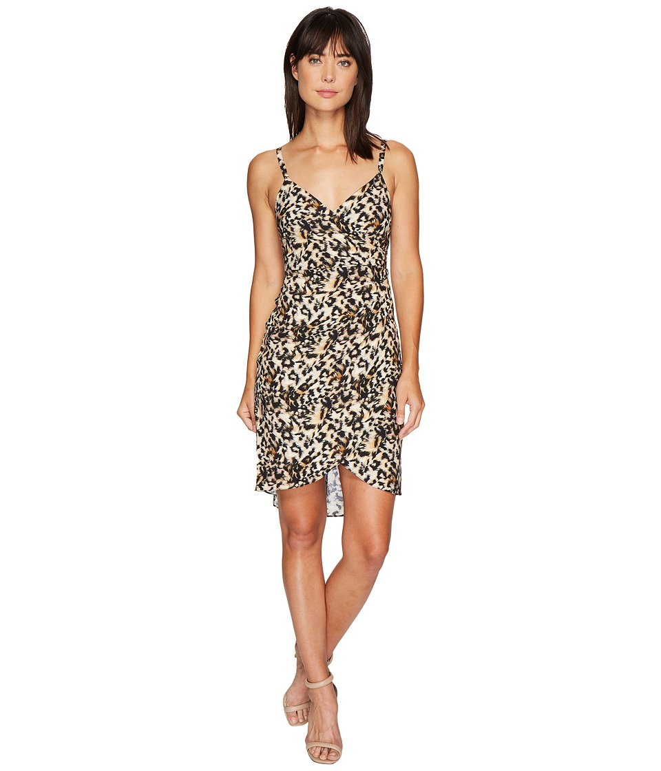 Nicole Miller Leo Silk Wrap Dress
