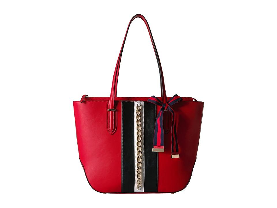Nine West - Reana Tote (Black/Dynasty Red/White) Tote Handbags
