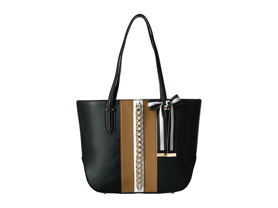 Nine West - Reana Tote (Dark Camel/Black/White) Tote Handbags