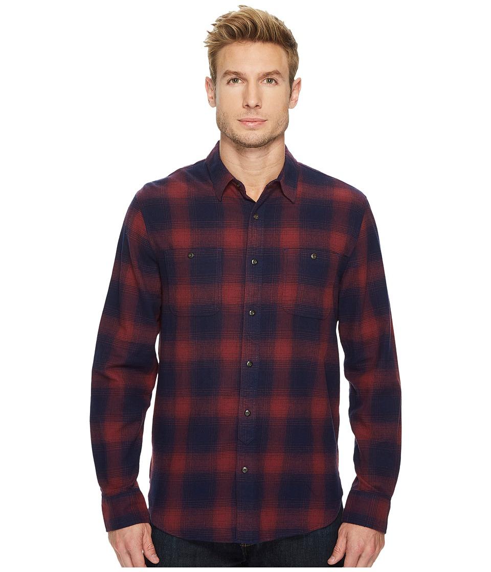 Lucky Brand Mason Workwear Shirt (Burgundy/Blue) Men