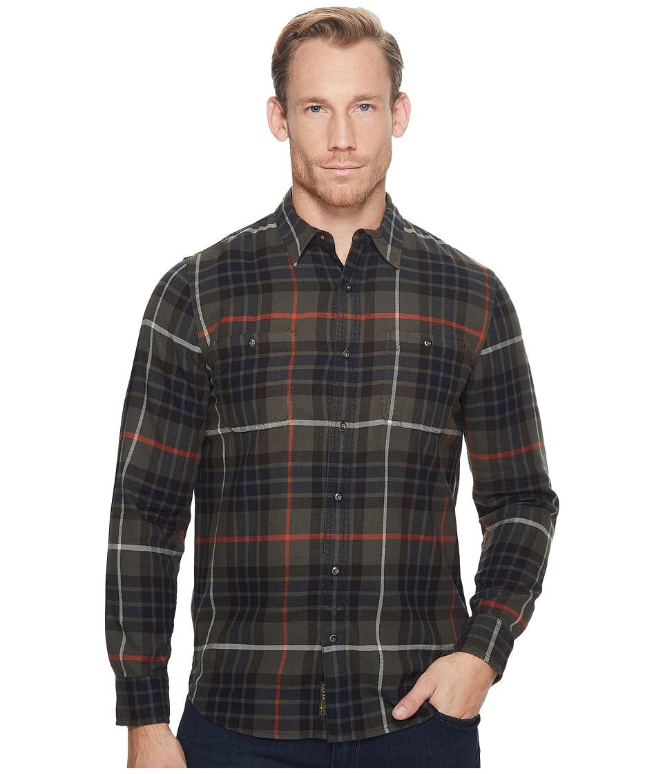 Lucky Brand Mason Workwear Shirt (Olive/Brown) Men