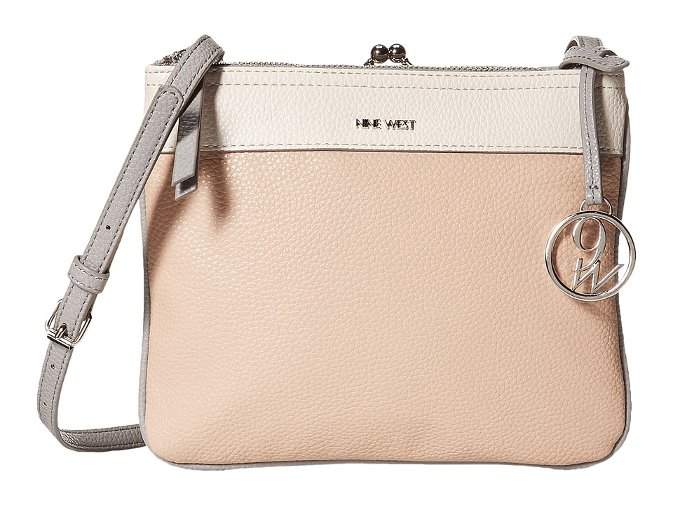 Nine West - Jaya Frame Crossbody (Milk/Cashmere/Mist) Cross Body Handbags
