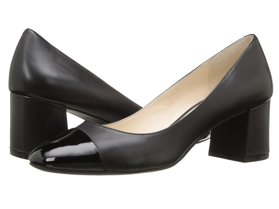 Cole Haan - Dawna Grand Pump 55mm II (Black Leather/Patent) Women's Shoes