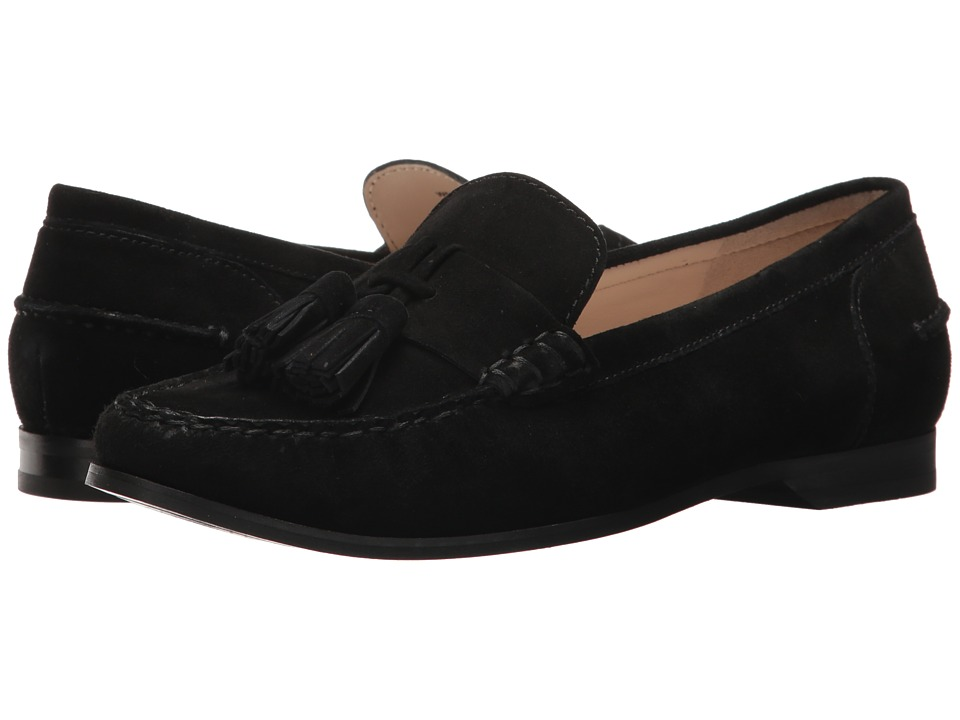 Cole Haan - Emmons Tassel Loafer II (Black Suede) Women's Shoes