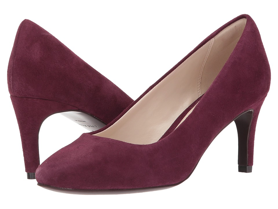 Cole Haan Hellen Grand Pump 65mm II (Fig Suede) Women