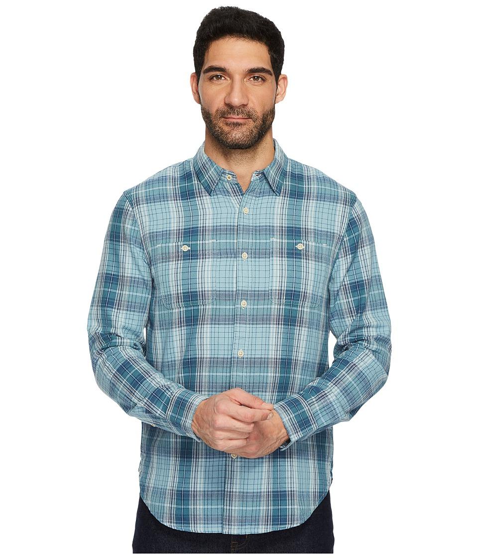 Lucky Brand Mason Workwear Shirt (Blue Multi) Men