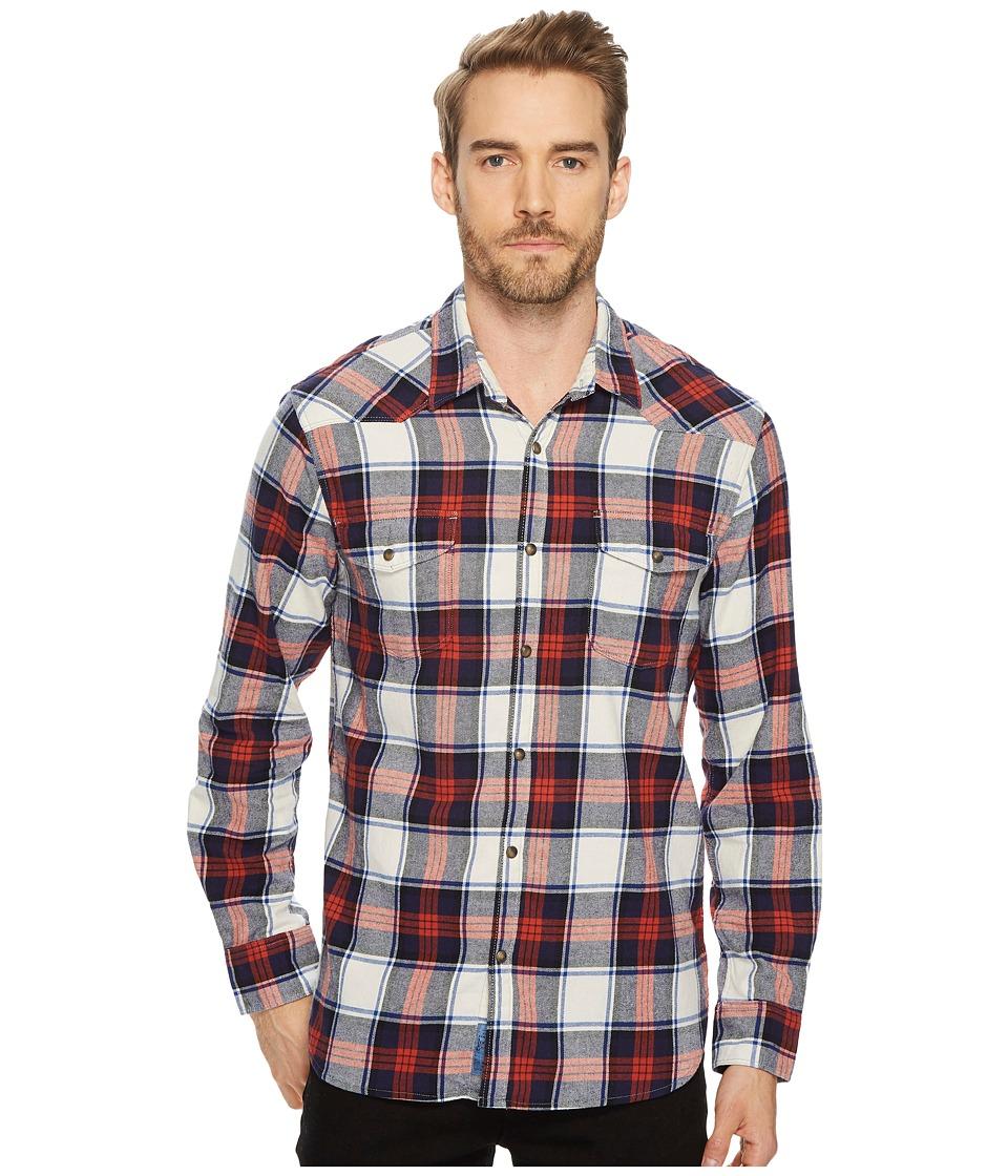Lucky Brand Mason Workwear Shirt (White/Red/Blue) Men