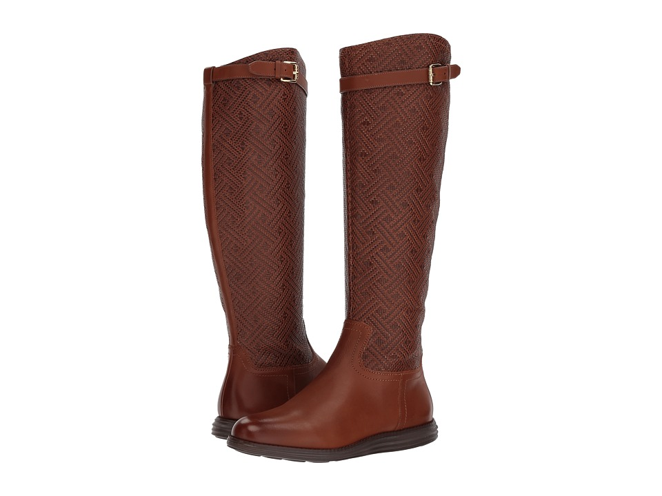Cole Haan Original Grand Tall Boot (Woodbury Weave/Woodbury Leather) Women