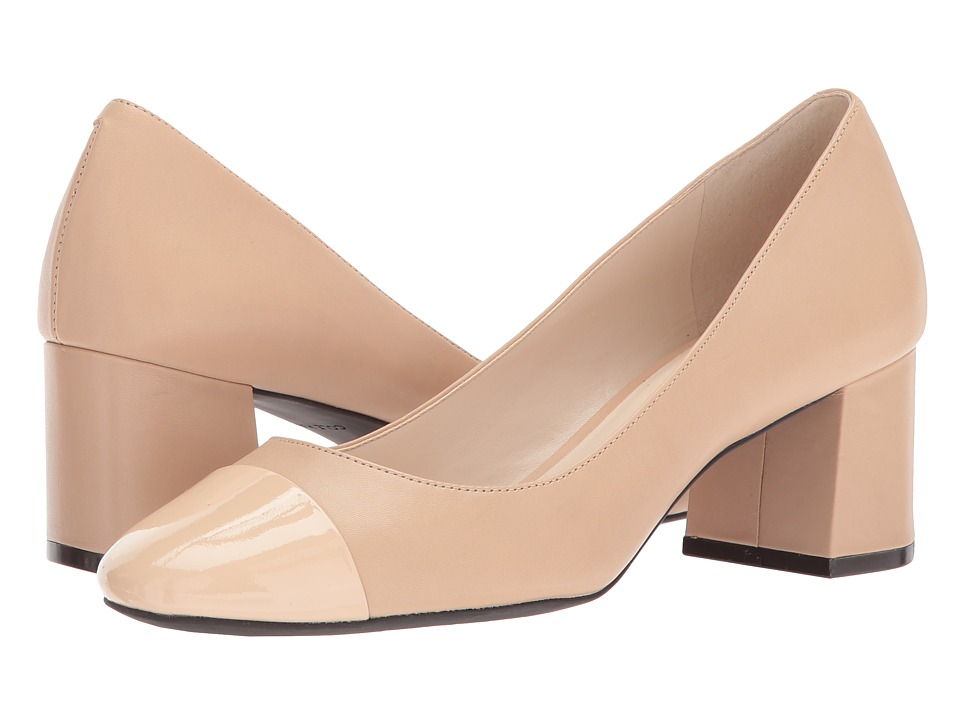 Cole Haan Dawna Grand Pump 55mm II (Nude Leather/Patent) Women