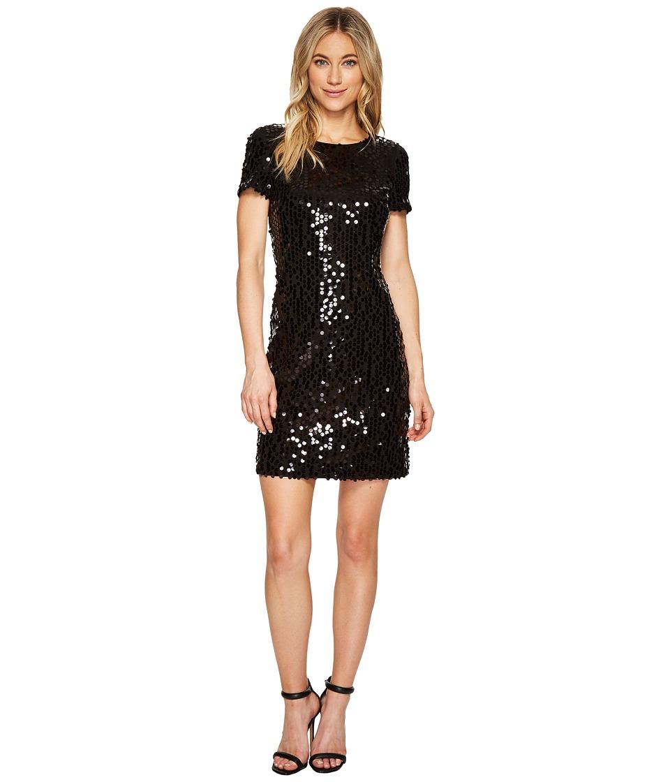 Calvin Klein Sequin Short Sleeve Sheath Dress