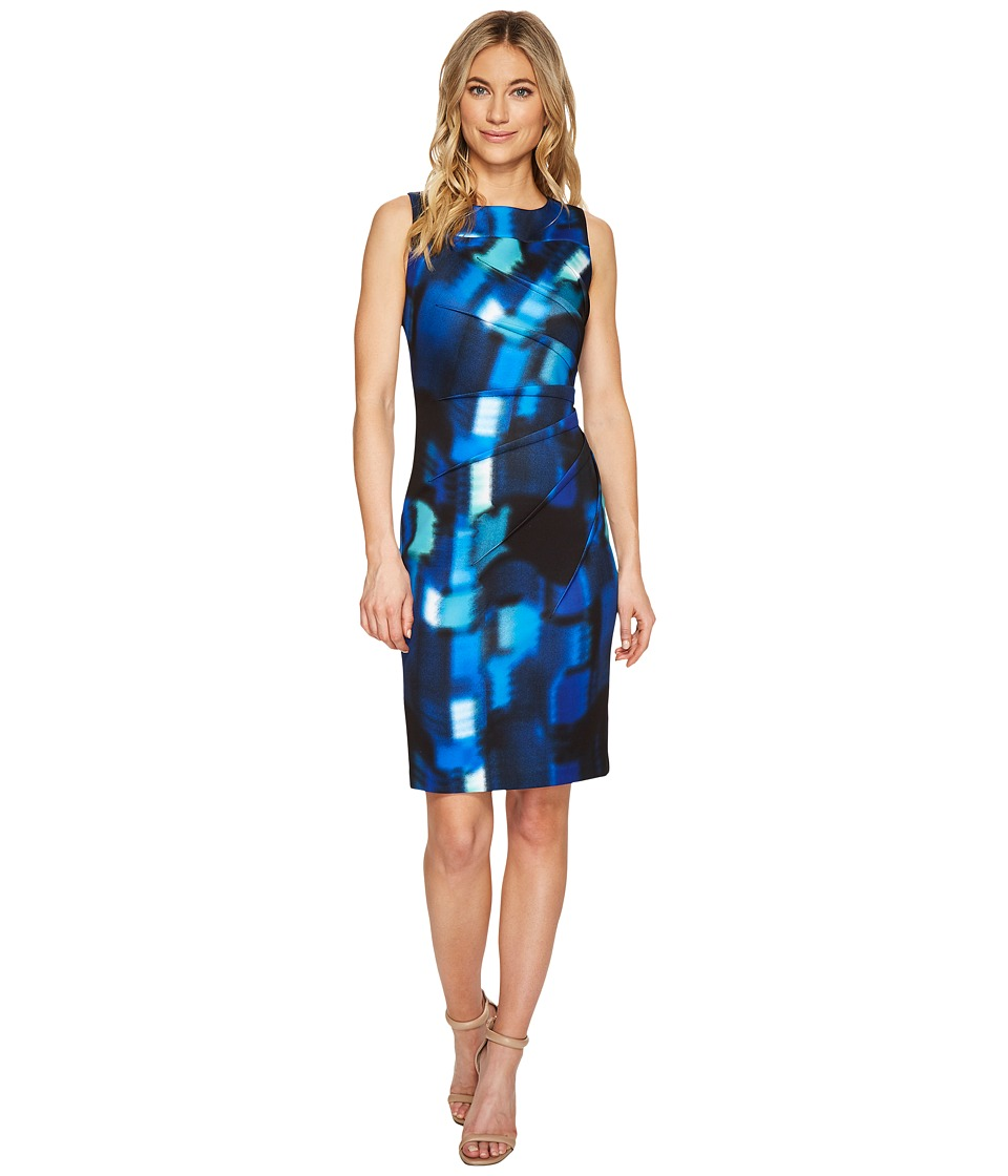 Calvin Klein Square Print Starburst Sheath Dress