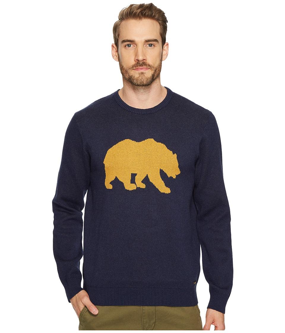 Lucky Brand Golden Bear Sweater (Heather Navy) Men