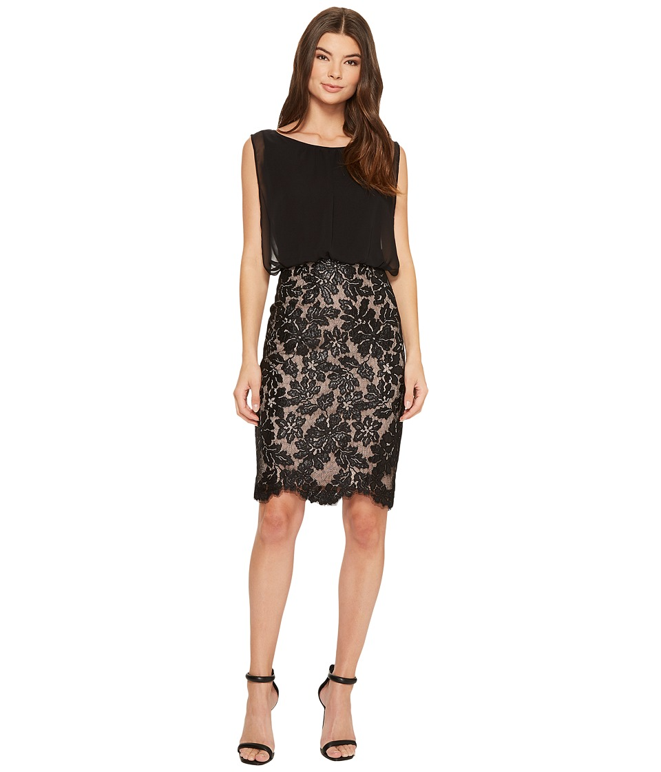 Calvin Klein Sequin Bottom Twofer CD7BMV3Y Black Dress