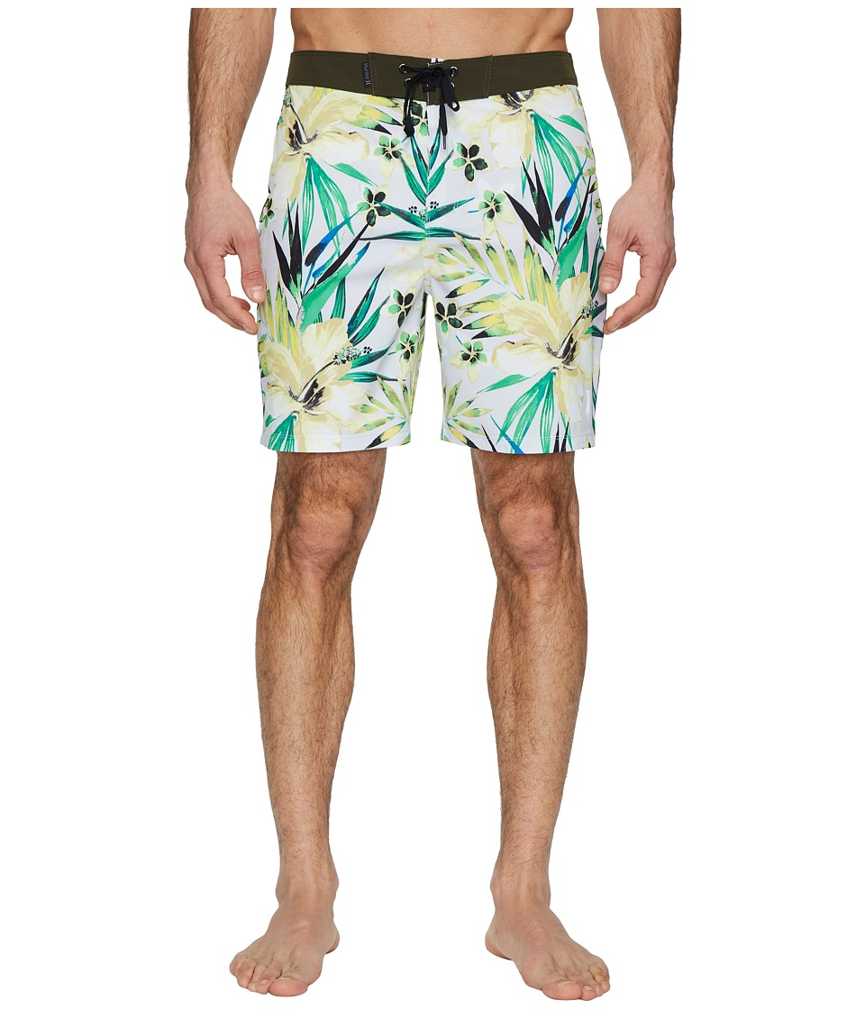 Hurley Phantom Garden 18 Boardshorts (Pure Platinum) Men