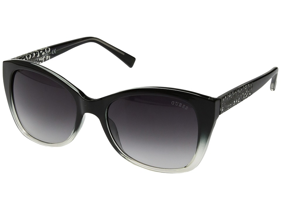 GUESS - GF6019 (Black/Other/Gradient Smoke) Fashion Sunglasses