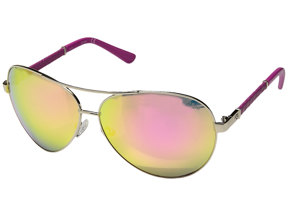 GUESS - GF6015 (Gold/Smoke Mirror) Fashion Sunglasses